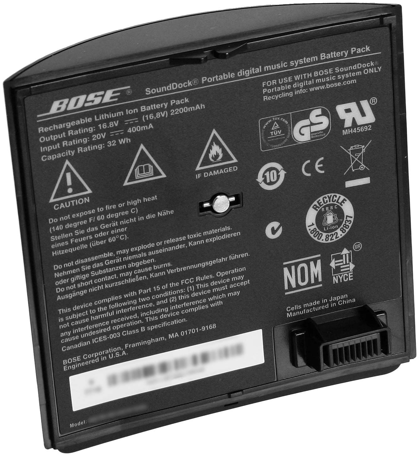 Bose® SoundDock® Portable Rechargeable Lithium-Ion Battery
